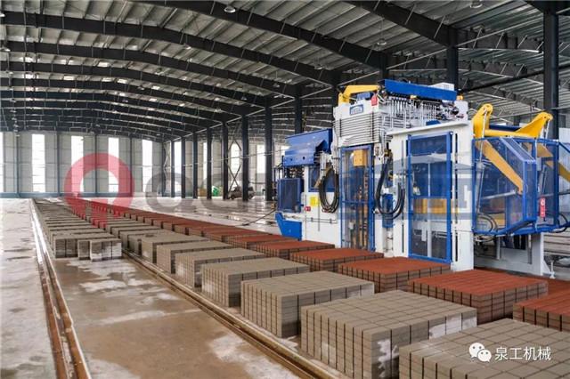 全自动水泥砖机生产线